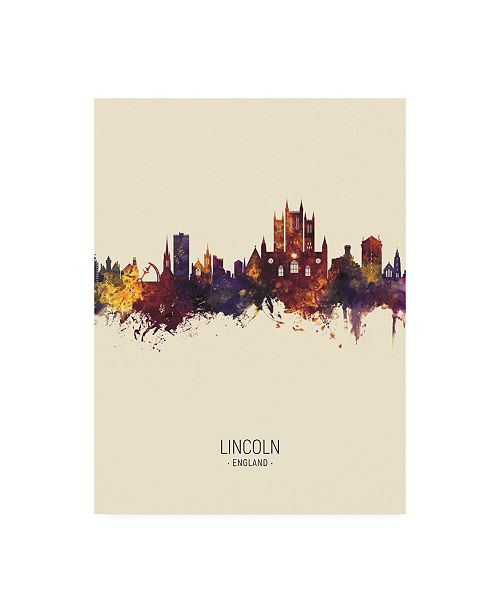 "Trademark Global Michael Tompsett Lincoln England Skyline Portrait III Canvas Art - 19.5"" x 26"""