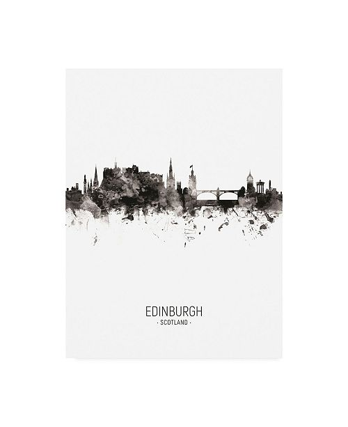 "Trademark Global Michael Tompsett Edinburgh Scotland Skyline Portrait II Canvas Art - 19.5"" x 26"""