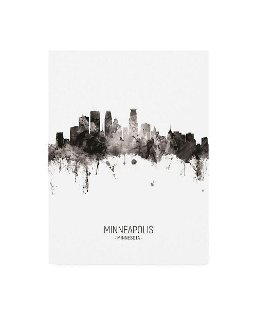 "Trademark Global Michael Tompsett Minneapolis Minnesota Skyline Portrait II Canvas Art - 15.5"" x 21"""