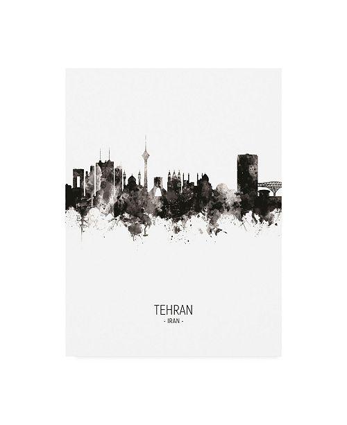 "Trademark Global Michael Tompsett Tehran Iran Skyline Portrait II Canvas Art - 36.5"" x 48"""
