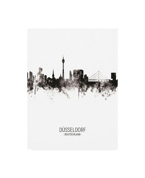 "Trademark Global Michael Tompsett Dusseldorf Germany Skyline Portrait II Canvas Art - 15.5"" x 21"""