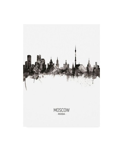 "Trademark Global Michael Tompsett Moscow Russia Skyline Portrait II Canvas Art - 19.5"" x 26"""