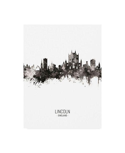 "Trademark Global Michael Tompsett Lincoln England Skyline Portrait II Canvas Art - 15.5"" x 21"""