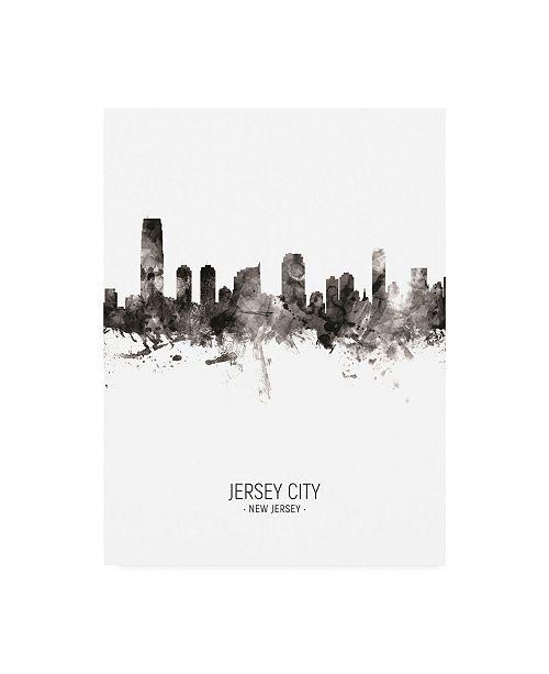 "Trademark Global Michael Tompsett Jersey City New Jersey Skyline Portrait II Canvas Art - 19.5"" x 26"""