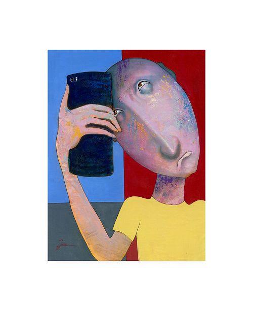 "Trademark Global Ronny Z Selfie Abstract Canvas Art - 19.5"" x 26"""