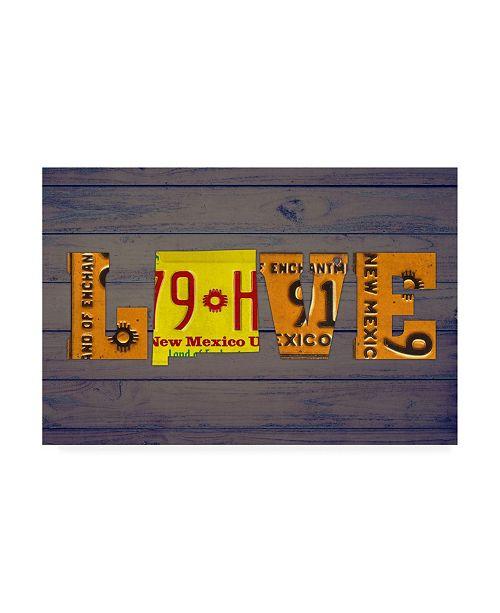 "Trademark Global Design Turnpike NM State Love Canvas Art - 19.5"" x 26"""