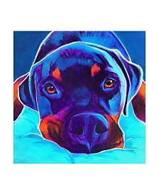 "DawgArt Rottie Dexter 2 Canvas Art - 36.5"" x 48"""