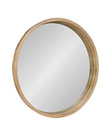 """Hutton Round Wood Wall Mirror - 30"""" x 30"""""""