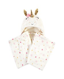 Hooded Plush Blanket, Cream Unicorn
