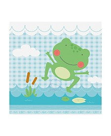 """Holli Conger Froggy Lily Pad Canvas Art - 15.5"""" x 21"""""""