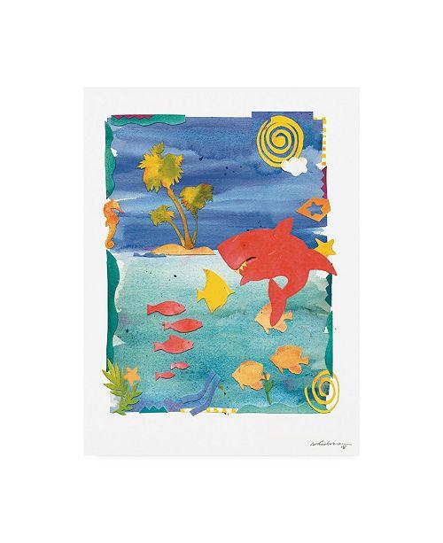 """Trademark Global Whiskers Studio Shark Bite Canvas Art - 15.5"""" x 21"""""""