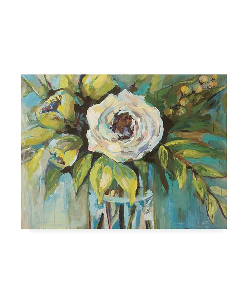 "Trademark Global Jeanette Vertentes Aqua Solo Canvas Art - 27"" x 33.5"""