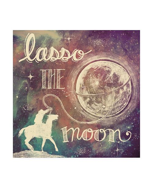 "Trademark Global Mary Urban Universe Galaxy Lasso the Moon Canvas Art - 36.5"" x 48"""