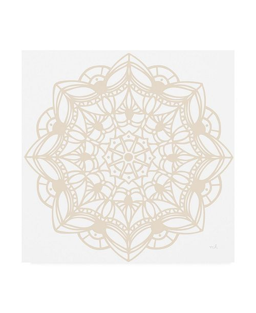 "Trademark Global Moira Hershey Contemporary Lace Neutral IV Canvas Art - 15.5"" x 21"""