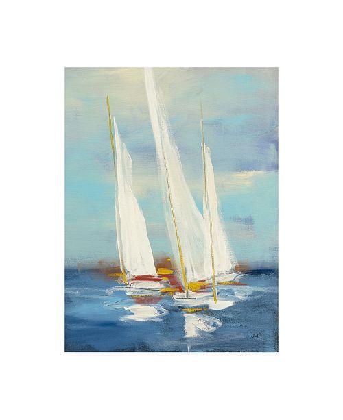 "Trademark Global Julia Purinton Summer Regatta III Red Yellow Canvas Art - 27"" x 33.5"""
