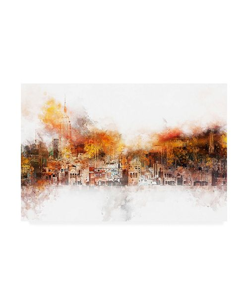 """Trademark Global Philippe Hugonnard NYC Watercolor Collection - the Skyline Canvas Art - 27"""" x 33.5"""""""