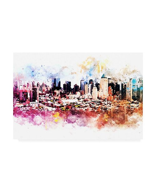 "Trademark Global Philippe Hugonnard NYC Watercolor Collection - Hells Kitchen Canvas Art - 15.5"" x 21"""