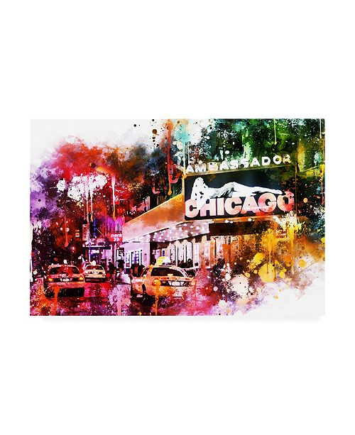 """Trademark Global Philippe Hugonnard NYC Watercolor Collection - Broadway Canvas Art - 15.5"""" x 21"""""""