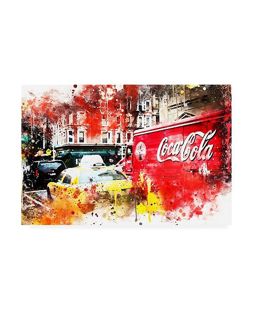 "Trademark Global Philippe Hugonnard NYC Watercolor Collection - American Traffic Canvas Art - 15.5"" x 21"""