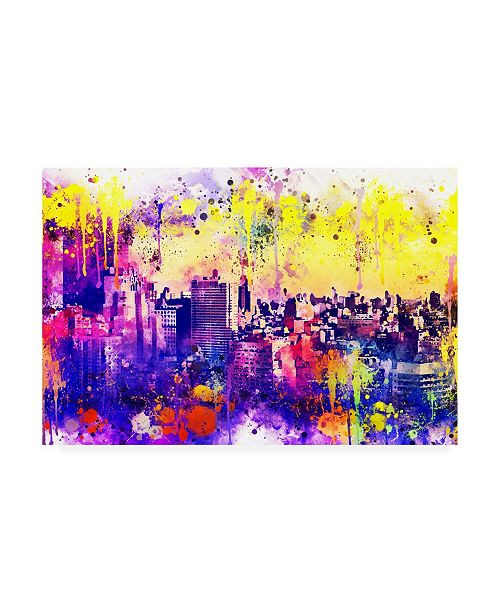 """Trademark Global Philippe Hugonnard NYC Watercolor Collection - Colorful Midtown Canvas Art - 27"""" x 33.5"""""""