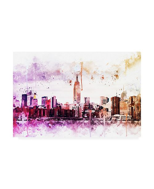 """Trademark Global Philippe Hugonnard NYC Watercolor Collection - Between Canvas Art - 36.5"""" x 48"""""""