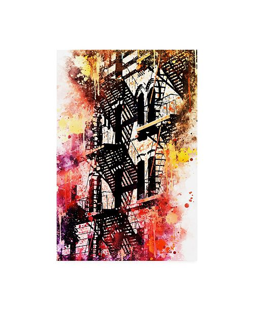 """Trademark Global Philippe Hugonnard NYC Watercolor Collection - Stairs Shadows Canvas Art - 19.5"""" x 26"""""""