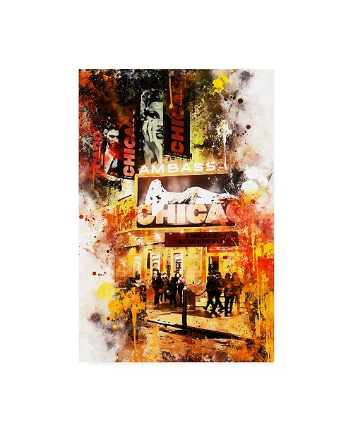 """Trademark Global Philippe Hugonnard NYC Watercolor Collection - Chicago Canvas Art - 27"""" x 33.5"""""""