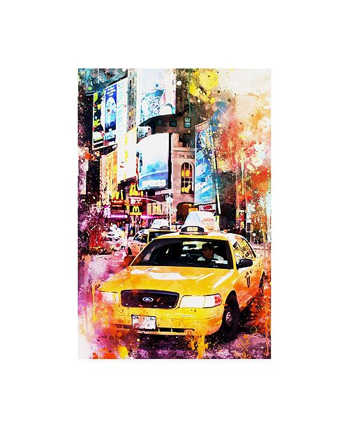 """Trademark Global Philippe Hugonnard NYC Watercolor Collection - Crazy Night Canvas Art - 15.5"""" x 21"""""""