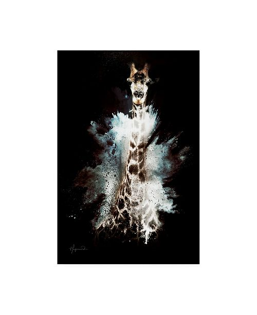 "Trademark Global Philippe Hugonnard Wild Explosion Collection - the Giraffe Canvas Art - 15.5"" x 21"""