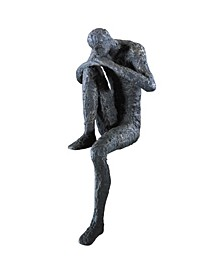 Thinking Man Shelf Sitter Sculpture