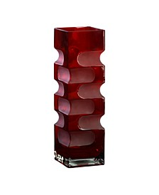 Etched Vase - Ruby Red Collection
