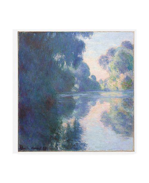 """Trademark Global Claude Monet Matinee sur la Seine, 1897 Canvas Art - 15.5"""" x 21"""""""