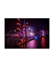 "Joe Azur Happy Birthday Golden Gate Canvas Art - 36.5"" x 48"""