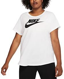 Nike Plus Size Sportswear Cotton Logo T-Shirt