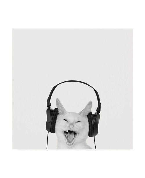 """Trademark Global Jon Bertell Rockin Kitten Canvas Art - 15.5"""" x 21"""""""