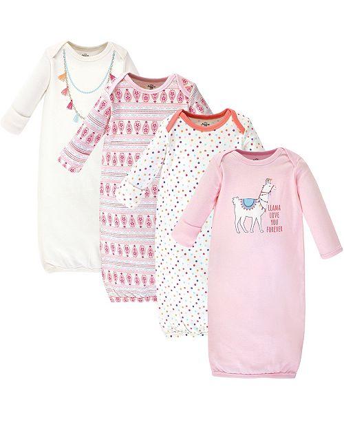 Little Treasure Cotton Gowns, Llama, 4 Pack, 0-6 Months