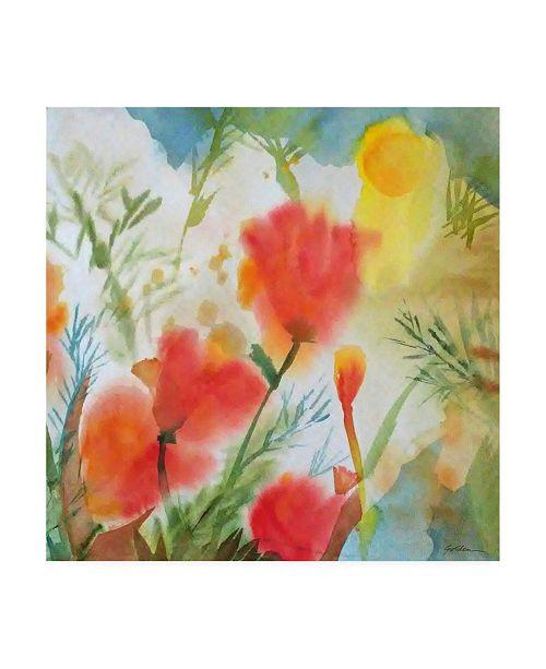 "Trademark Global Sheila Golde Orange Poppy Reverie Canvas Art - 19.5"" x 26"""