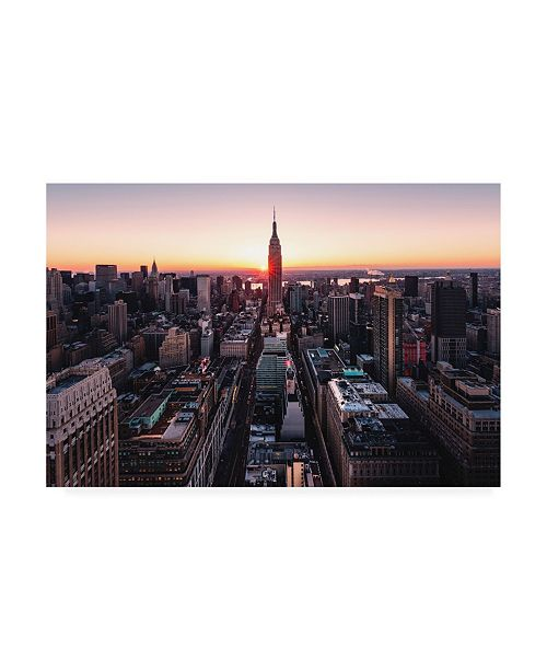 "Trademark Global Bruce Gett Empire Sunburst Sunrise Canvas Art - 36.5"" x 48"""