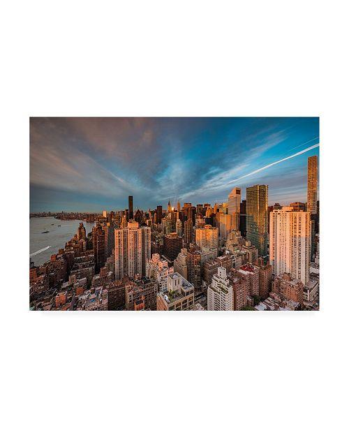 "Trademark Global Bruce Gett New York Morning Canvas Art - 36.5"" x 48"""