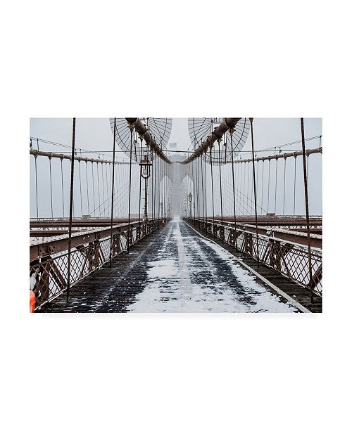 "Trademark Global Bruce Gett The Brooklyn Bridge Canvas Art - 19.5"" x 26"""