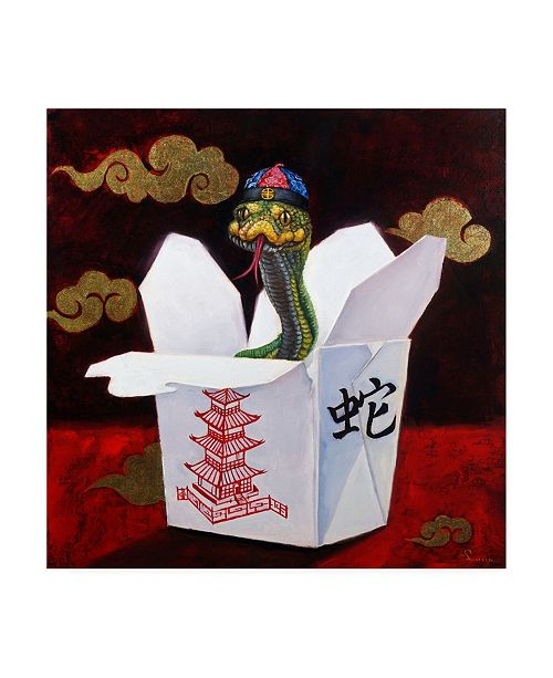 """Trademark Global Lucia Hefferna Takeout with a Twist Canvas Art - 36.5"""" x 48"""""""