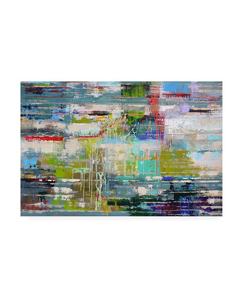 "Trademark Global Ingeborg Herckenrat Thoughts Abstract Canvas Art - 19.5"" x 26"""