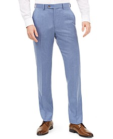 Men's Classic-Fit UltraFlex Stretch Light Blue Solid Suit Pants