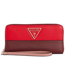 Aretha Signature Large Zip Around Wallet