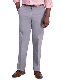 Haggar Men's Iron Free Premium Khaki Classic-Fit Flat-Front Pant