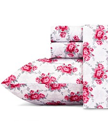Betsey Johnson Skull Rose Trellis Sheet Set, Full