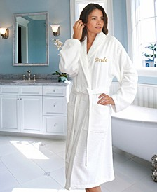 "Terry Bathrobe with Embroidered ""Bride"""