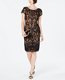 Connected Soutache Illusion Dress, Created For Macy's