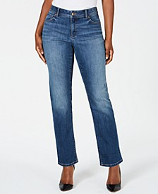 INC Curvy-Fit Straight-Leg Jeans with Tummy Control, Created for Macy's