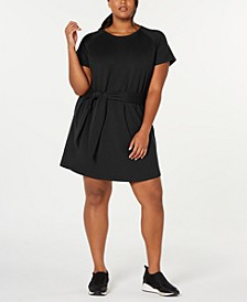 Plus Size Tie-Front T-Shirt Dress, Created for Macy's